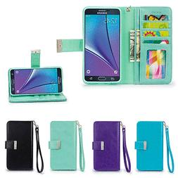 IZENGATE Wallet Flip Case PU Leather Cover Folio for Samsung