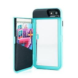 Wetben Case for iPhone 8,Dual Layer Shockproof PC+TPU Mirror