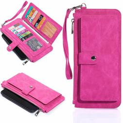 Women Cell Phone Carrying Pouch RFID Wallets Case cover for