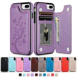 WOMEN Leather Card Wallet Stand Case For iPhone 12/11 Pro 7
