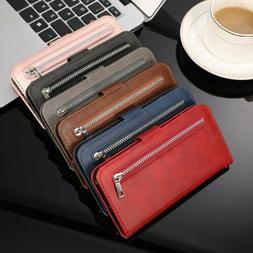 Women PU Leather Flip Card Wallet Case Cover For iPhone 11 P