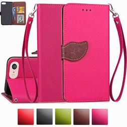 Women Real Genuine Leather Flip Wallet Phone Case Cover For