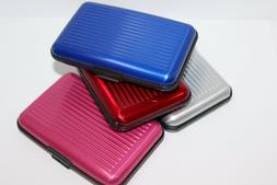 Women's Aluminum Wallet Business Credit Card Case Pink Anti