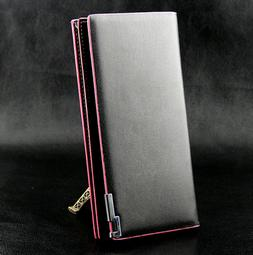 Women's Checkbook Wallet Credit Card Case Purse Bi-fold Long