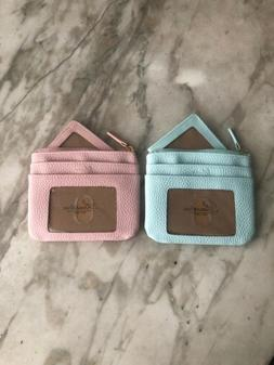 Buxton Women's ID Coin Purse Card Case Wallet Pastel PinK or