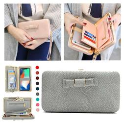 Women's Phone Purse Pouch Handbag Wallet Card Case Cover for