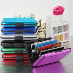 Womens Credit Card Holder Stripe Metal Aluminum ID Wallet Ne