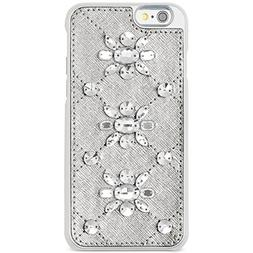 Michael Kors Womens Saffanio Embellished Cell Phone Case Sil