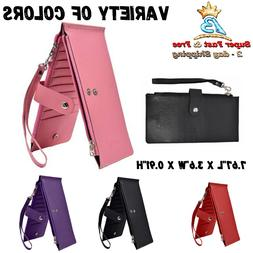 Womens Wallet Bifold Multi Card Case Zipper Clutch RFID Bloc