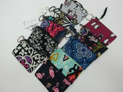 Vera Bradley Zip ID Case With Keychain In A Variety Of Print